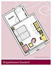 Aufteilung der Doppelzimmer Kaprun (2 Personen) - Verwöhnhotel Vötter's Sportkristall