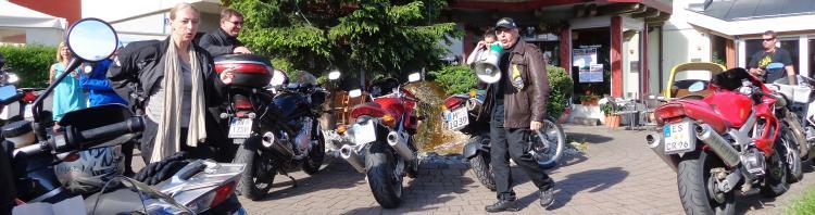 Bikerstammtisch im Motorrad Hotel Kaprun